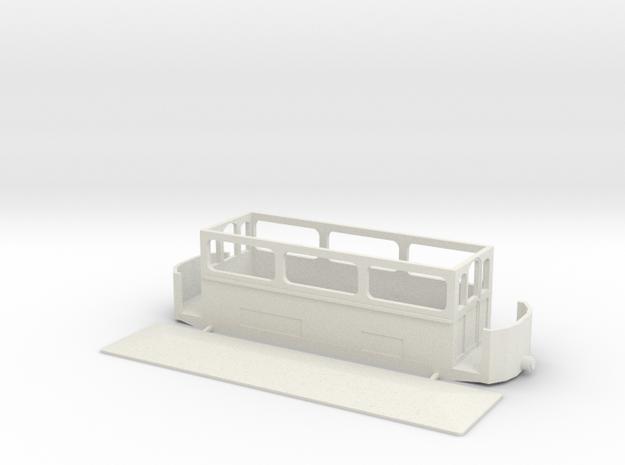 Volk's Car 5 (The Winter Car)  4mm (009) in White Natural Versatile Plastic