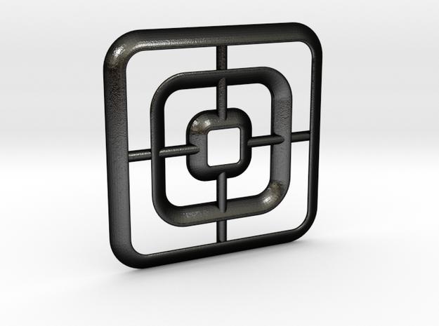 Square pendant in Matte Black Steel