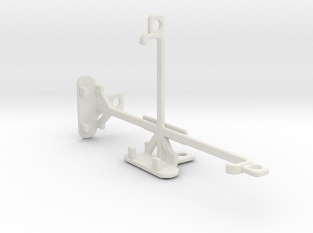 Lenovo Vibe C tripod & stabilizer mount in White Natural Versatile Plastic