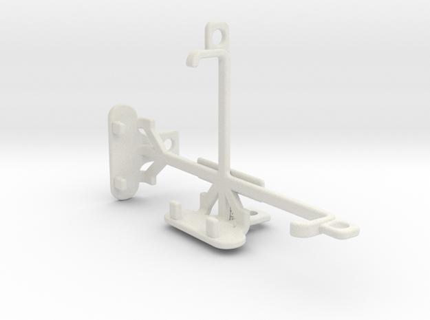 Microsoft Lumia 435 tripod & stabilizer mount in White Natural Versatile Plastic