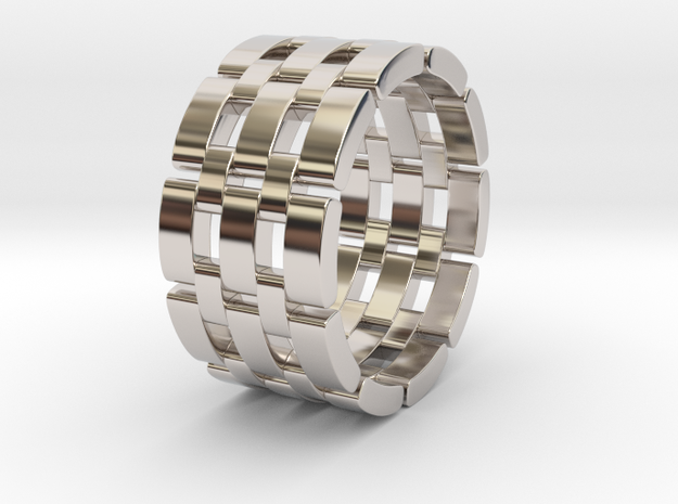 Wataru - Ring in Rhodium Plated Brass: 9.5 / 60.25