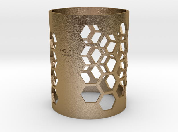 TheLoft-Honeycomb2 in Polished Gold Steel