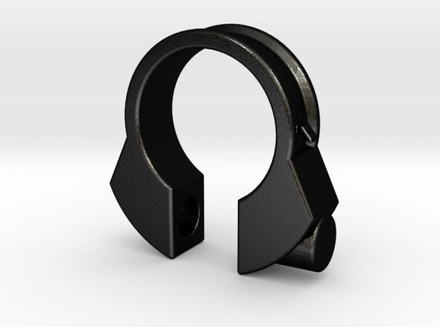 Houdini Ring in Matte Black Steel