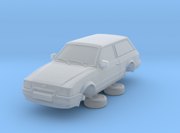 Ford Escort Mk4 1-87 2 Door Small Van Hollow (repa in Frosted Ultra Detail