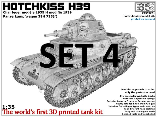 ETS35X01 Hotchkiss H39 - Set 4 - Trench Skid in Frosted Ultra Detail