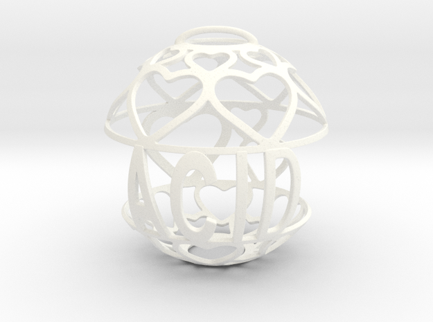 Acid Lovaball in White Processed Versatile Plastic