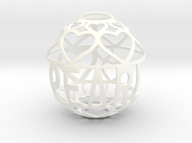 Pearl Lovaball in White Processed Versatile Plastic