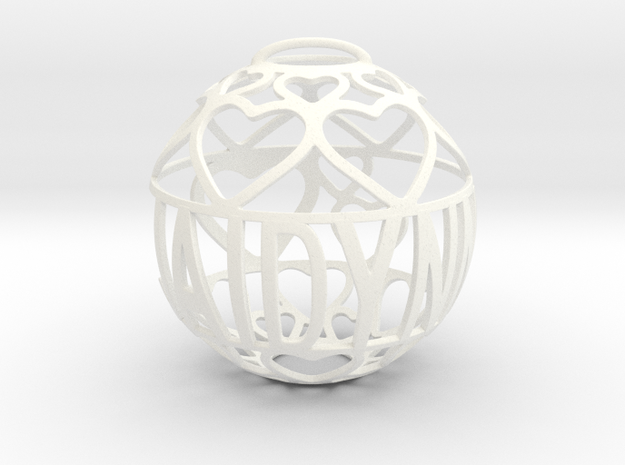 Jaidynn Lovaball in White Processed Versatile Plastic