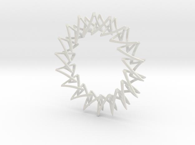 Necklace Escher in White Natural Versatile Plastic