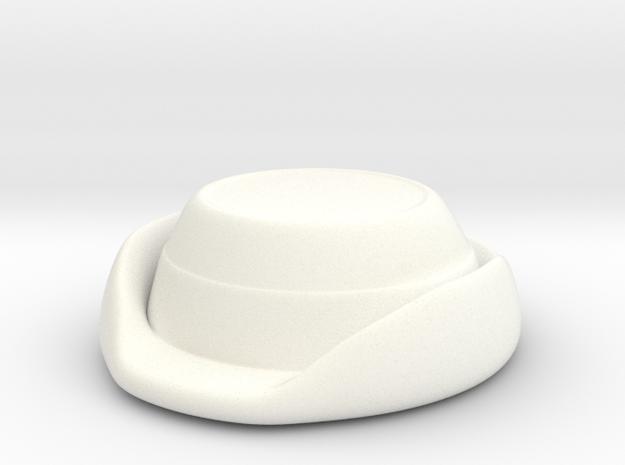 Wrens Hat in White Processed Versatile Plastic