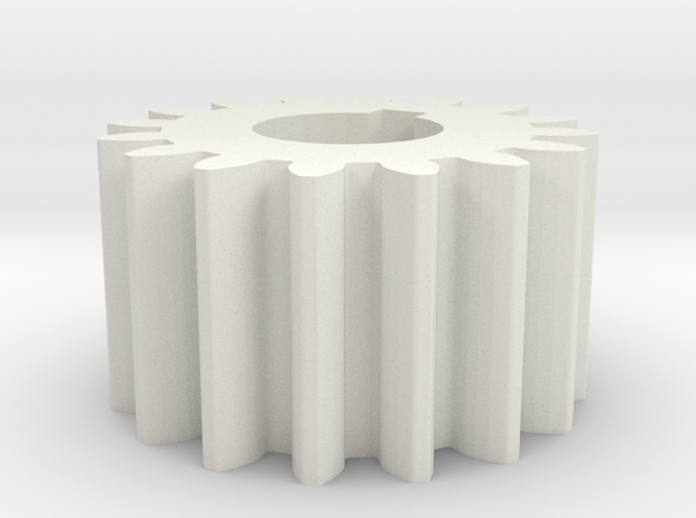 Cylindrical gear Mn=1 Z=16 AP20° Beta0° b=10 HoleØ