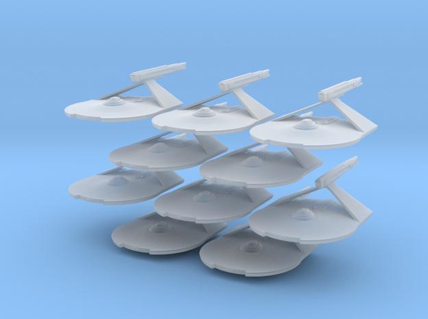 1/7000 Destroyer Larson v2 - 10 ships pack in Frosted Ultra Detail