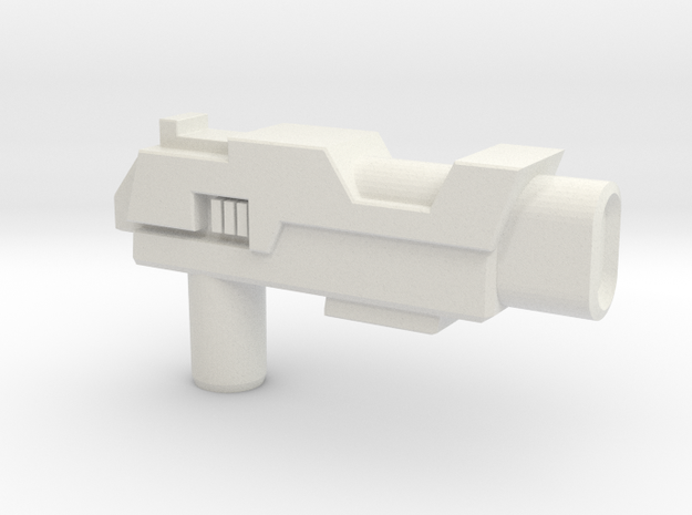 Arcee TFTM Pistol, 5mm in White Natural Versatile Plastic