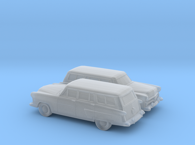 1/160 2X 1952 Ford Crestline Station Wagon in Smooth Fine Detail Plastic