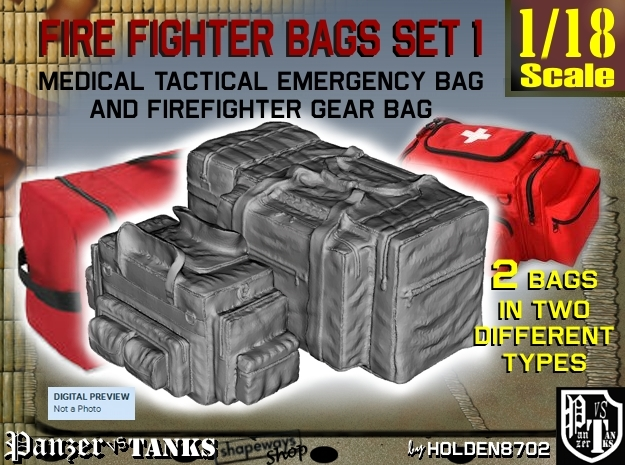 1-18 Med Tac Emerg And Firefight Gear Bag Set