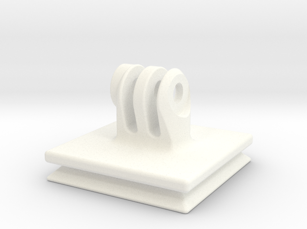 Arca-Swiss Square GoPro QR Plate in White Processed Versatile Plastic