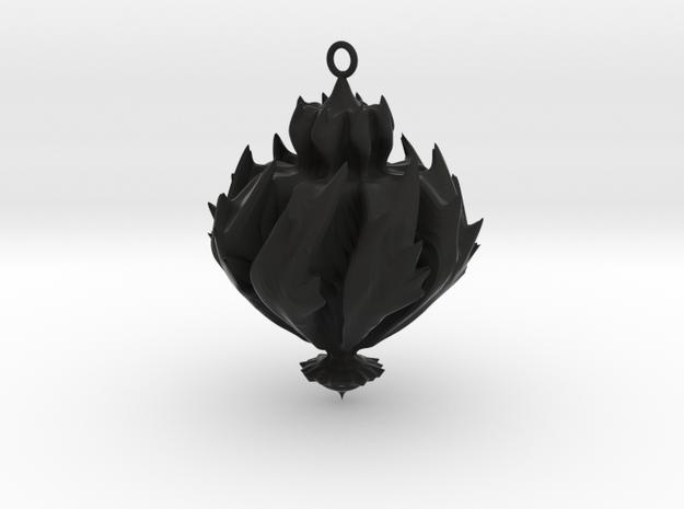 Fire in Black Natural Versatile Plastic