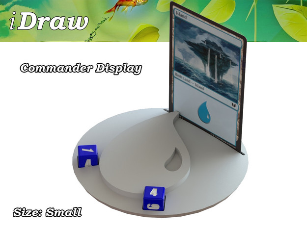 Commander Display Blue in White Natural Versatile Plastic: Small