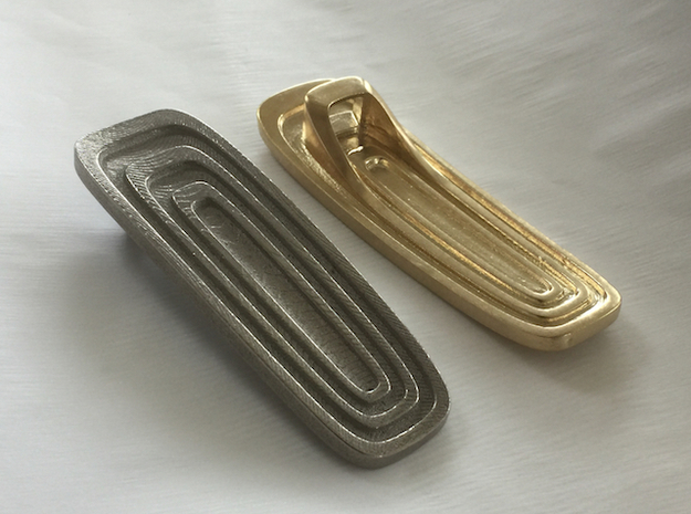 Art Deco-Inspired Bottle Opener in Polished Nickel Steel