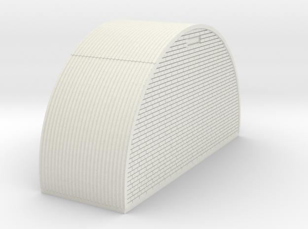 N-76-end-brick-nissen-hut-right-wind-1a in White Natural Versatile Plastic