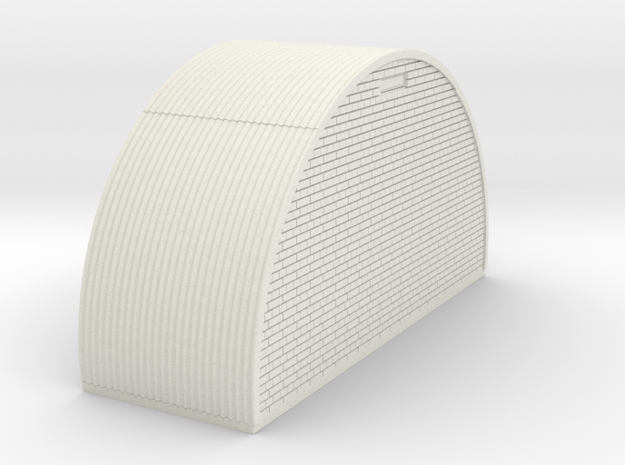 N-76-end-brick-nissen-hut-16-36-1a in White Natural Versatile Plastic