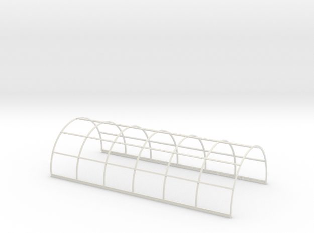 N-76-nissen-hut-frame-16-36 in White Natural Versatile Plastic