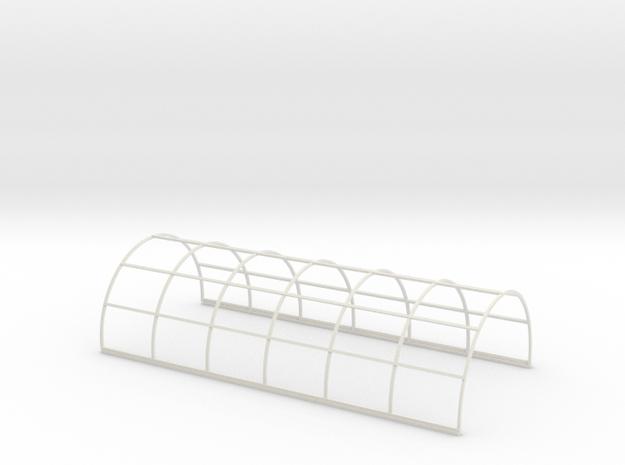 N-76-nissen-hut-frame-16-36 in White Natural Versatile Plastic