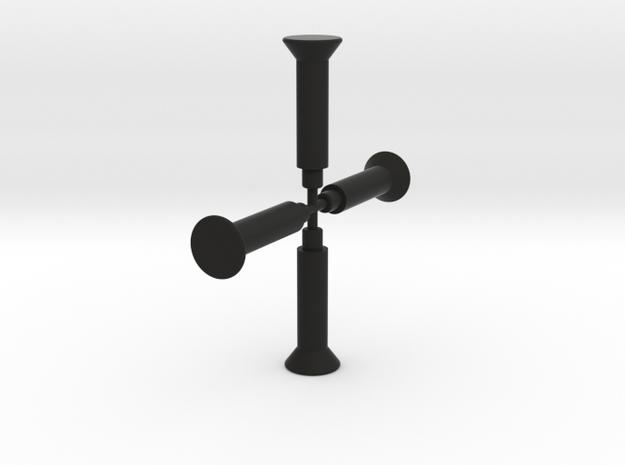 ScaledEngines_Block-feetonly in Black Natural Versatile Plastic