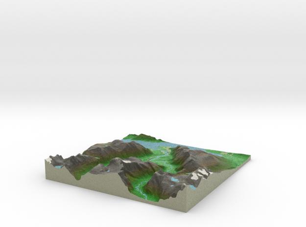 Terrafab generated model Thu Oct 27 2016 11:51:42  in Full Color Sandstone
