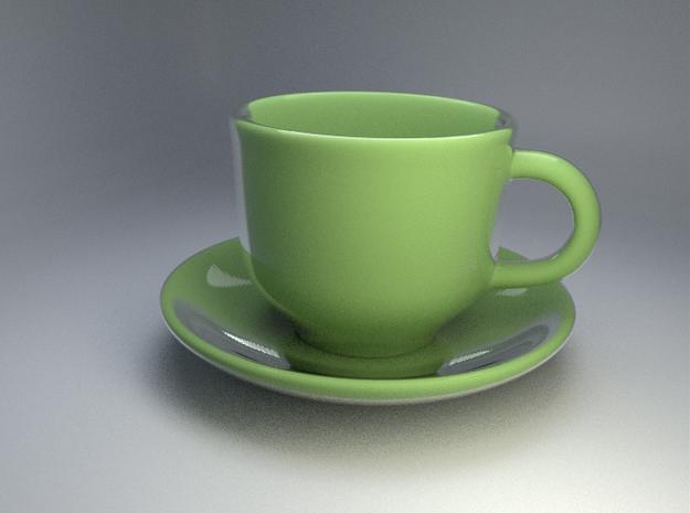 Teacup-saucer 3d printed
