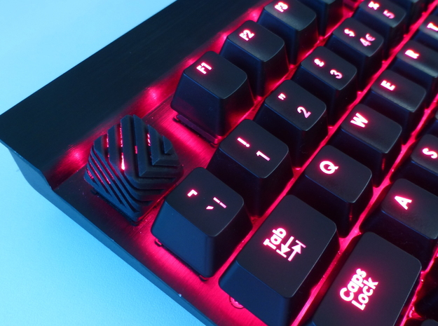 Sliced Cherry MX Keycap in Black Natural Versatile Plastic