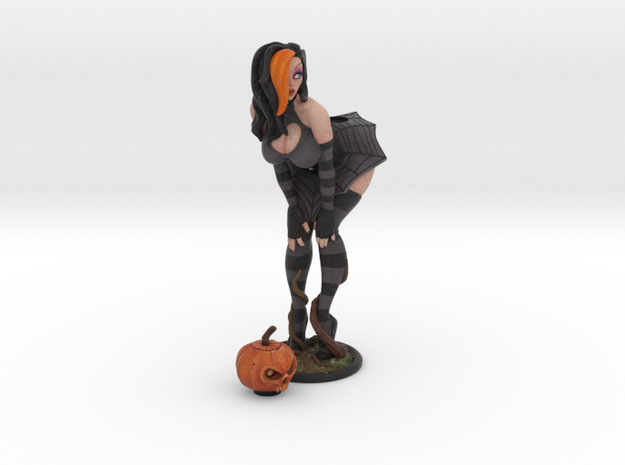 Pumpkin 150mm (6 inch Approx) in Full Color Sandstone