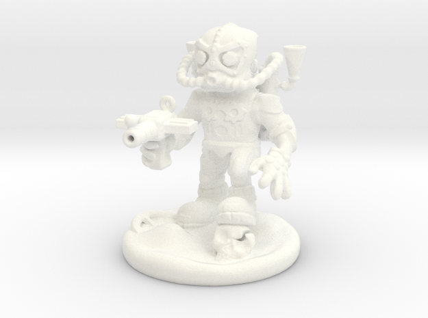 Steam Punk Warrior in White Processed Versatile Plastic
