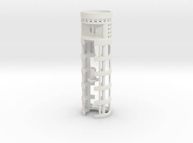 "SH Maverick - All-in-One 1.14""OD - CF8 + 16650 in White Natural Versatile Plastic"
