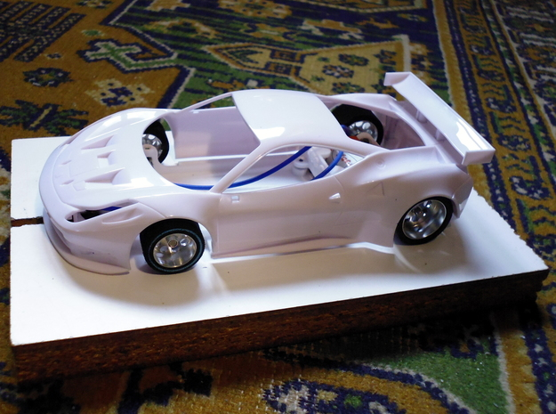 Slot car chassis for 458 GT2