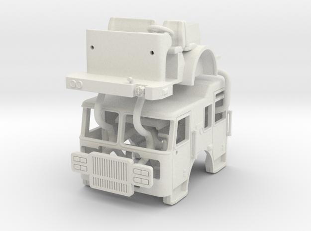 1/64 Seagrave Marauder II Raised Roof cab in White Natural Versatile Plastic