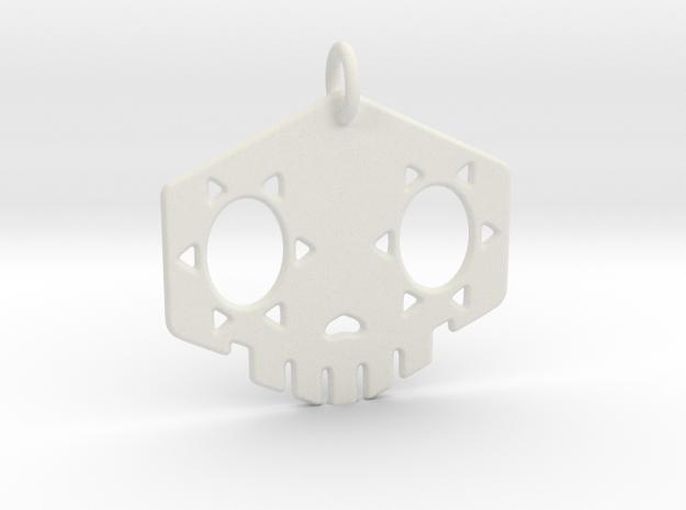 """2"""" Sombra Skull Keychain in White Strong & Flexible"""