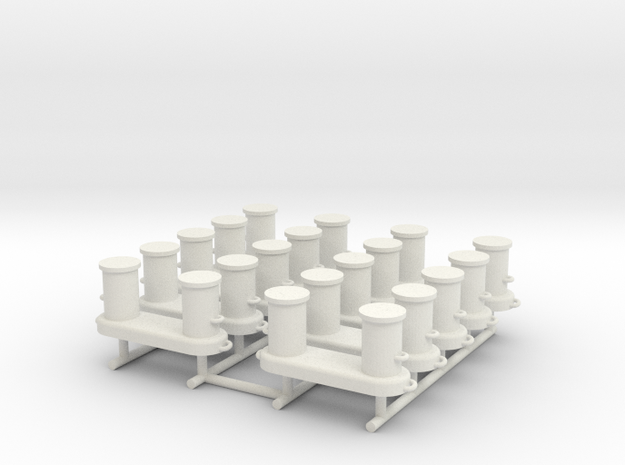 AHTS Bollards 1:50 in White Strong & Flexible