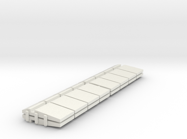 HO/1:87 Precast concrete bridge side barrierx16 3d printed
