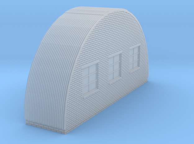 Low Relief Nissen Back  in Smooth Fine Detail Plastic