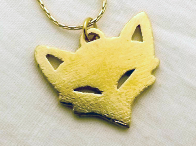 Mischievious Fox™ Charm in Raw Brass