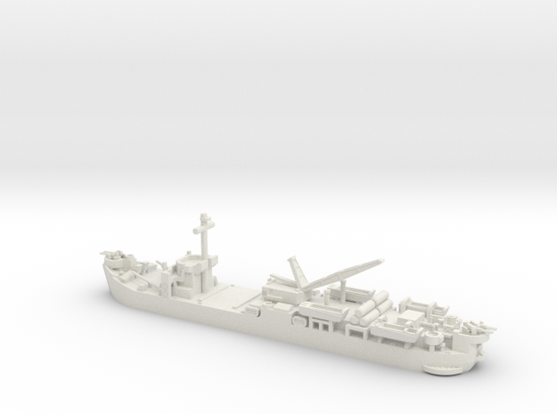 1/700 Scale USS Laysan Island in White Strong & Flexible