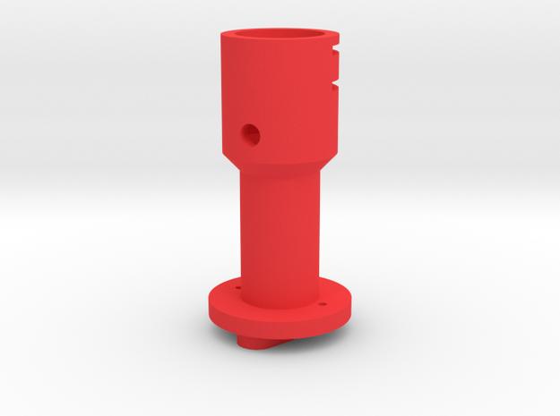 Suncom to Thrustmaster joystick tailpiece in Red Processed Versatile Plastic