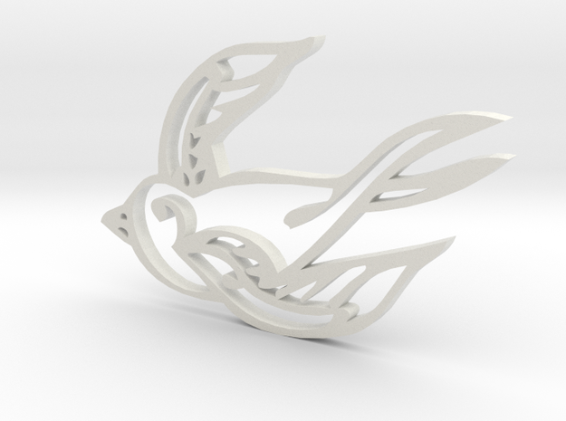 Swallow in White Natural Versatile Plastic