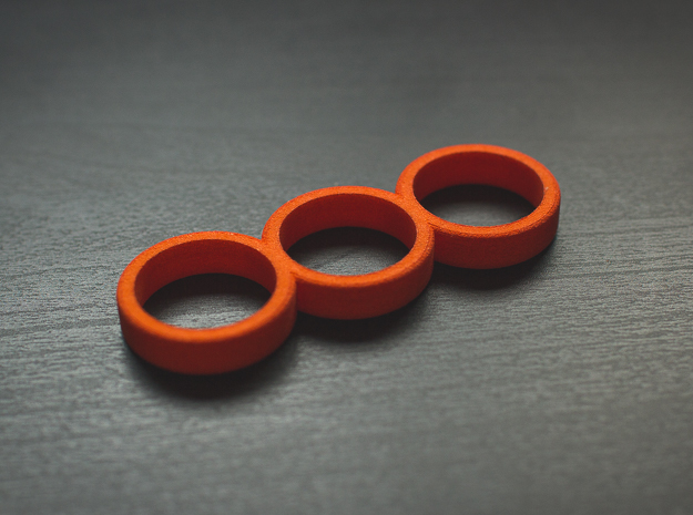 The Simplex - Fidget Spinner - For your Idle Hands in Orange Processed Versatile Plastic