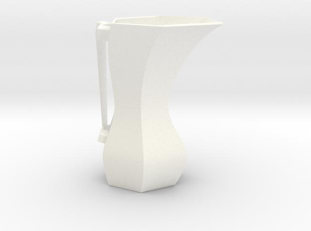 Hex Carafe 01 in White Processed Versatile Plastic