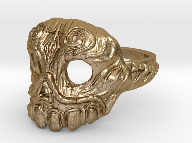 Dr. Killinger Ring Size 8 in Polished Gold Steel