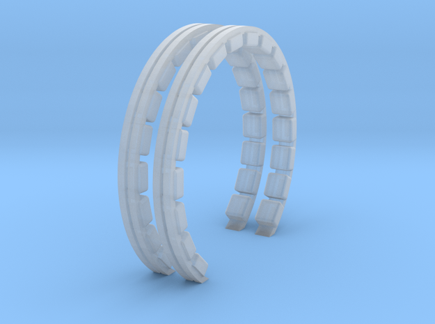 YT1300 BANDAY CORRIDOR RINGS in Smooth Fine Detail Plastic