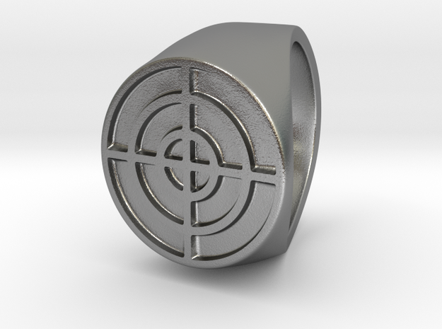 Target - Signet Ring in Natural Silver: 6 / 51.5