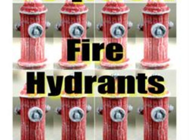 HO Fire Hydrants x15 Pack  in White Natural Versatile Plastic